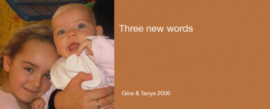 March 2014: Three new words